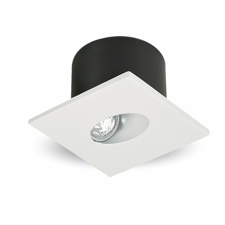 V-TAC 3w spot led luce scale quadrato corpo bianco bianco caldo 3000k