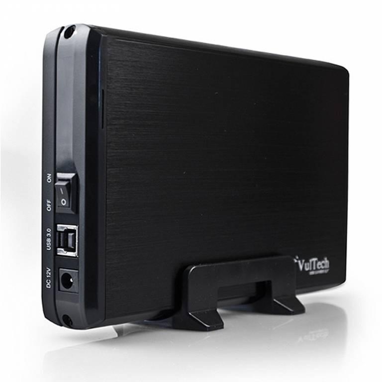BOX CASE ESTERNO HDD PER HARD DISK 3.5 POLLICI SATA USB 3 IN ALLUMINIO VULTECH