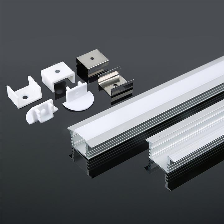 V-TAC Profilo in alluminio 2000 x 24.5 x 12.2mm milky