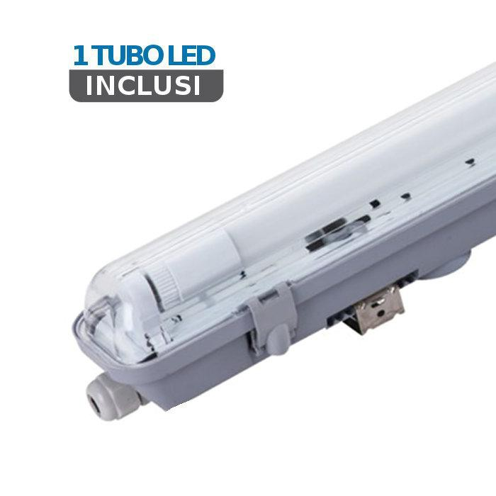 V-TAC Led plafoniera impermeabile 120cm 1x18w 4000k