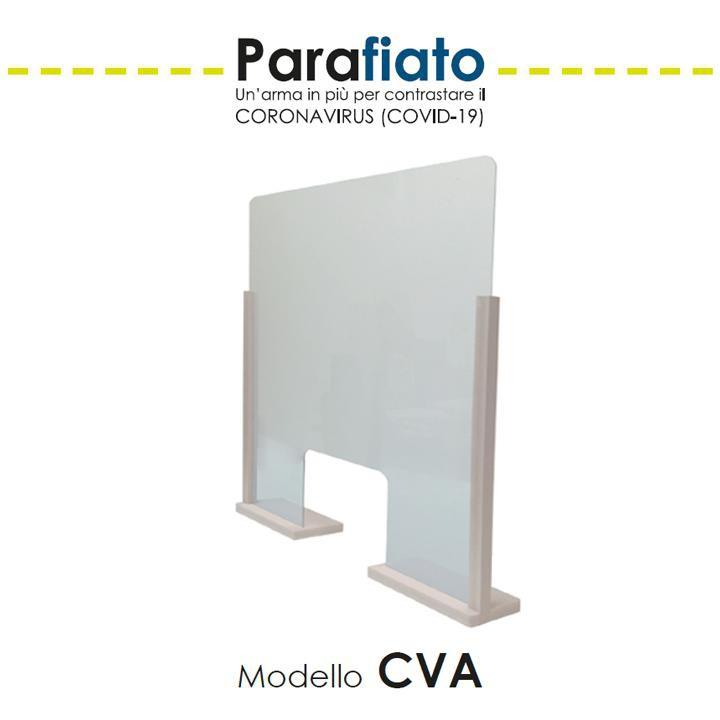 BARRIERA PARAFIATO DA BANCO IN PLEXIGLASS 90X65 CM
