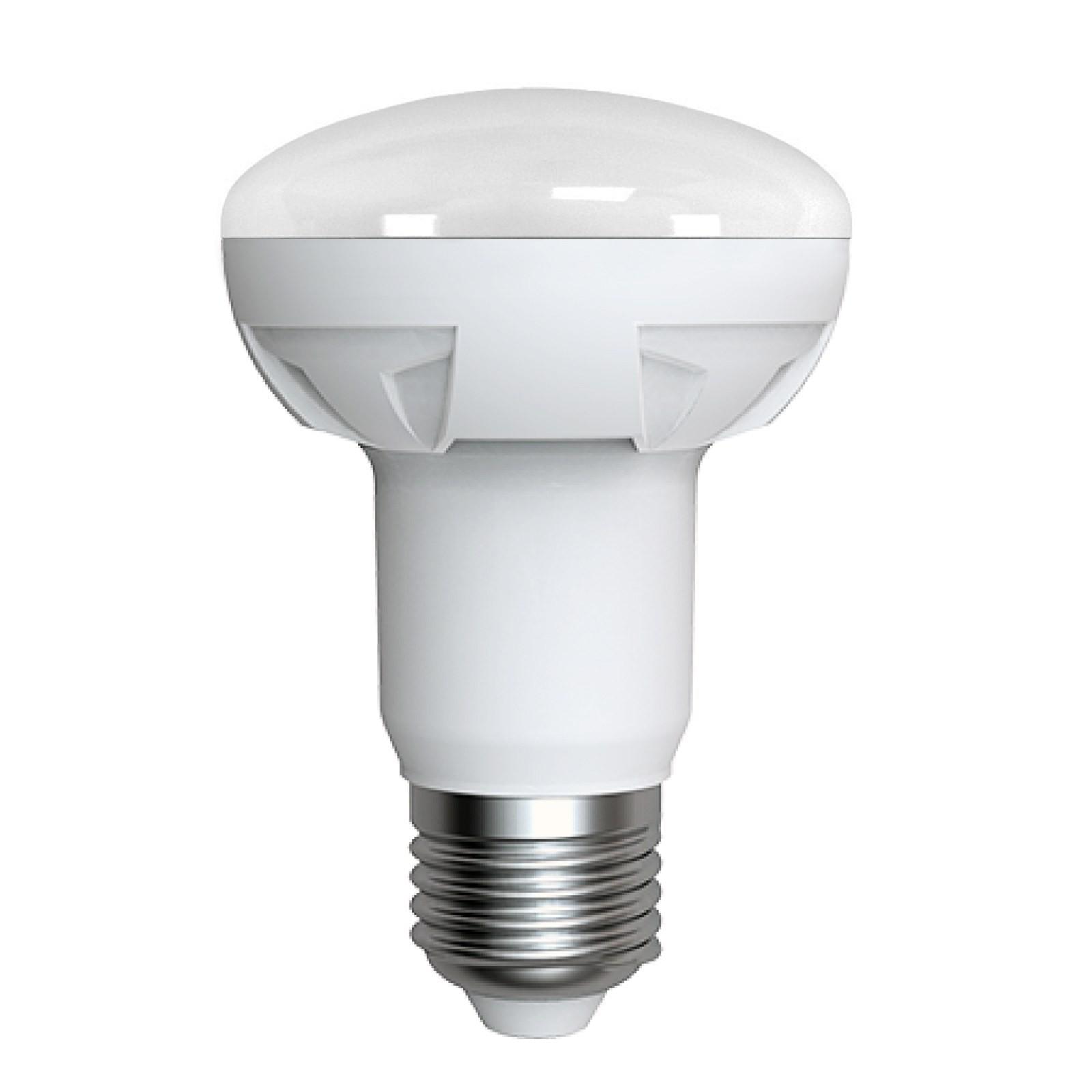 Lampada led lampadina attacco e27 luce bianca calda r63 for Luce bianca led