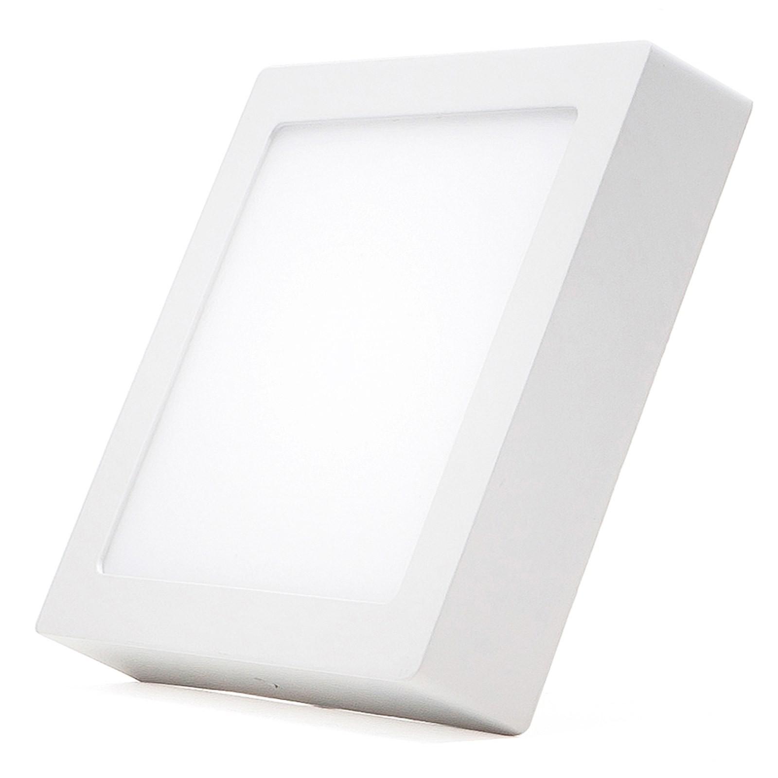 Plafoniera faretto pannello led luce bianca fredda 12 watt for Luce bianca led
