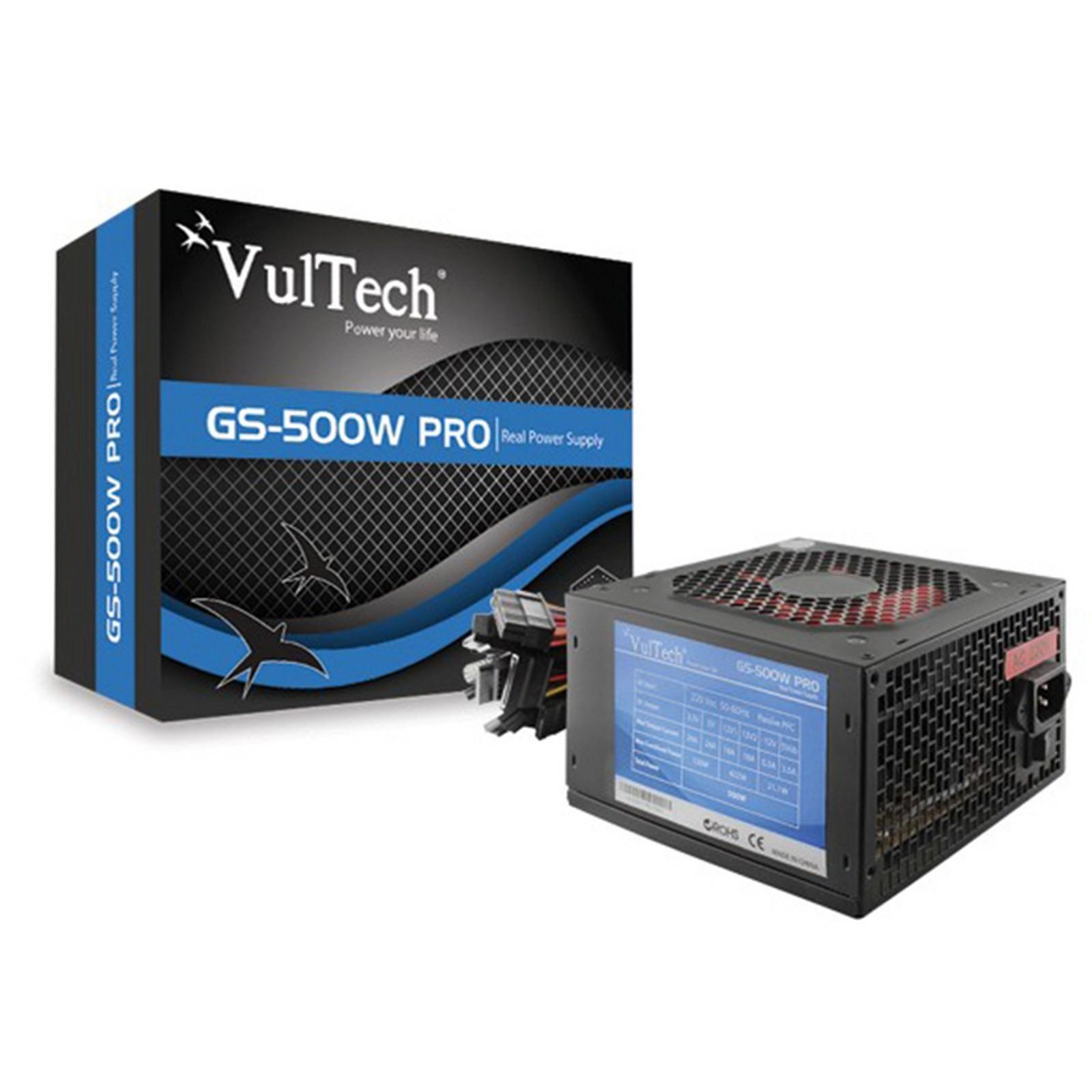 ALIMENTATORE ALIMENTAZIONE MODULARE ATX PER PC COMPUTER 500 WATT 500W VULTECH