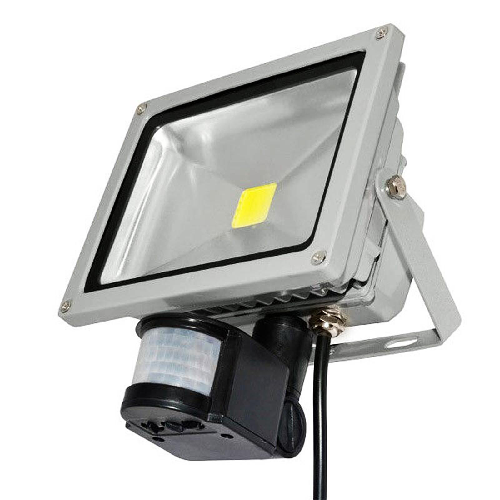 faro faretto a led 30 watt per esterno con sensore di movimento luce fredda area illumina. Black Bedroom Furniture Sets. Home Design Ideas