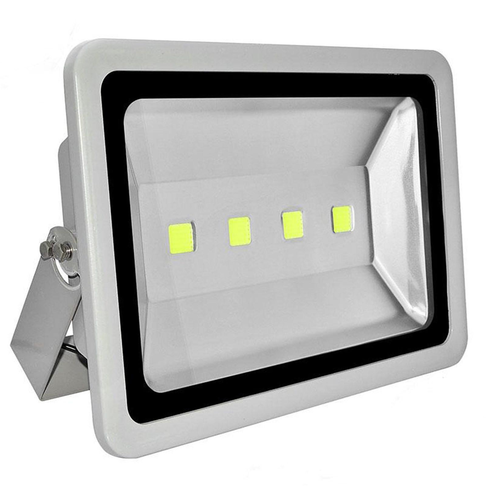 Faro 4 LED COB da Esterno Faretto 200 Watt Proiettore Luce Bianca Fredda Casa