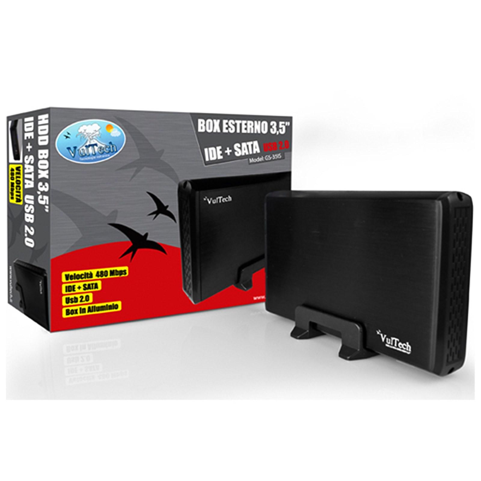 """BOX CASE ESTERNO HDD PER HARD DISK 3.5 """" POLLICI SATA IDE USB GS-35IS VULTECH"""