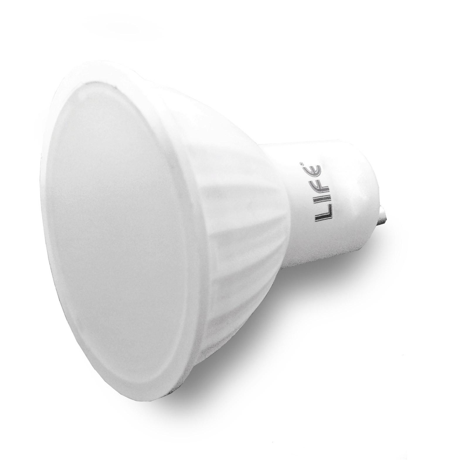 LAMPADA LAMPADINA FARETTO A LED ATTACCO GU10 LUCE CALDA 5 WATT LIFE 380 LUMEN Vultech Life AMC ...