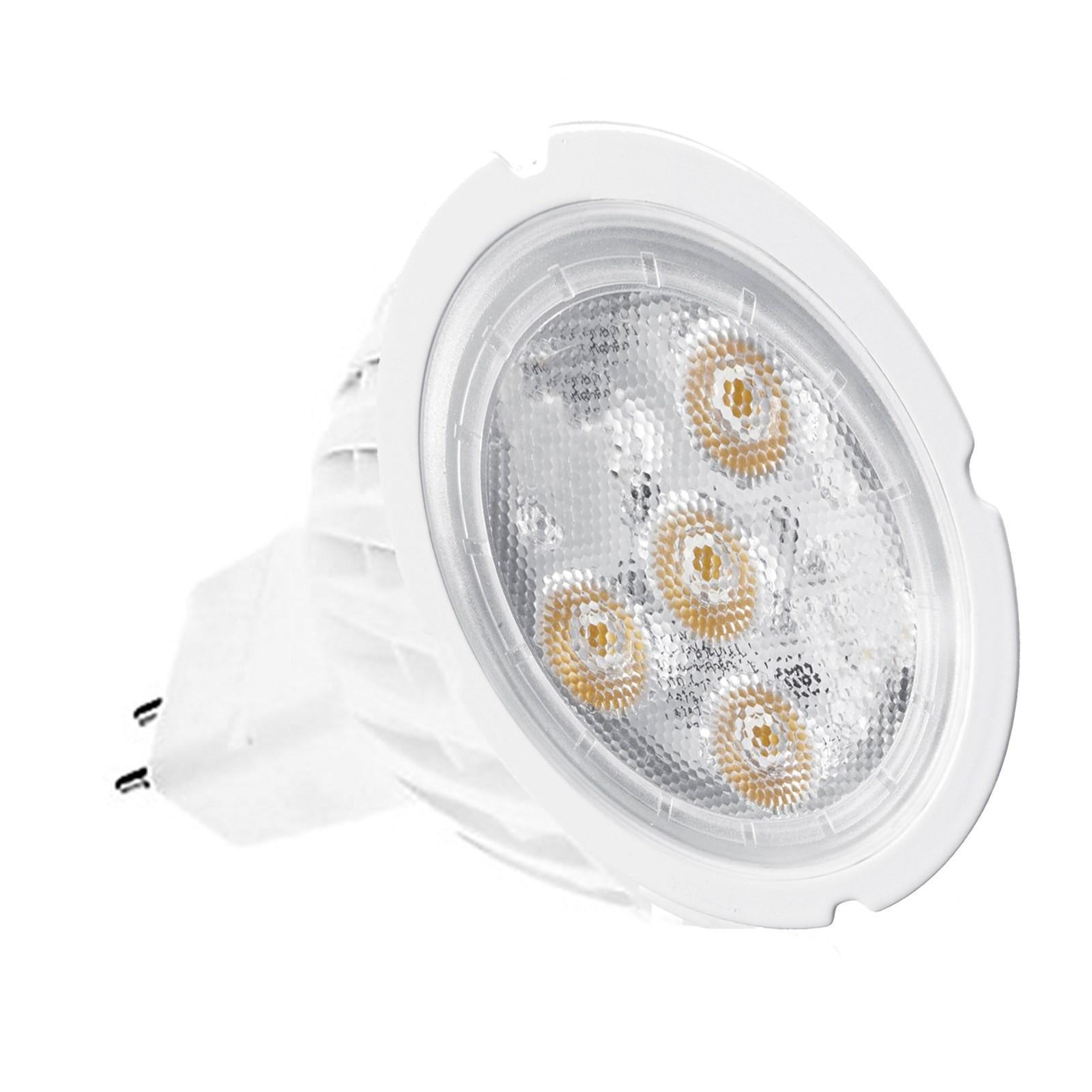 LAMPADINA LAMPADA FARO FARETTO A 4 LED SPOT GU 5.3 4W MR16 LUCE CALDA SMD 200LM