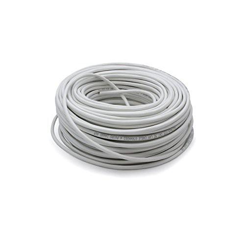 Vultech SC13502-100 Matassa Lan Categoria 6 UTP 100 Metri 23AWG Bobina di Rete Ethernet 100m Cat6, Bianco