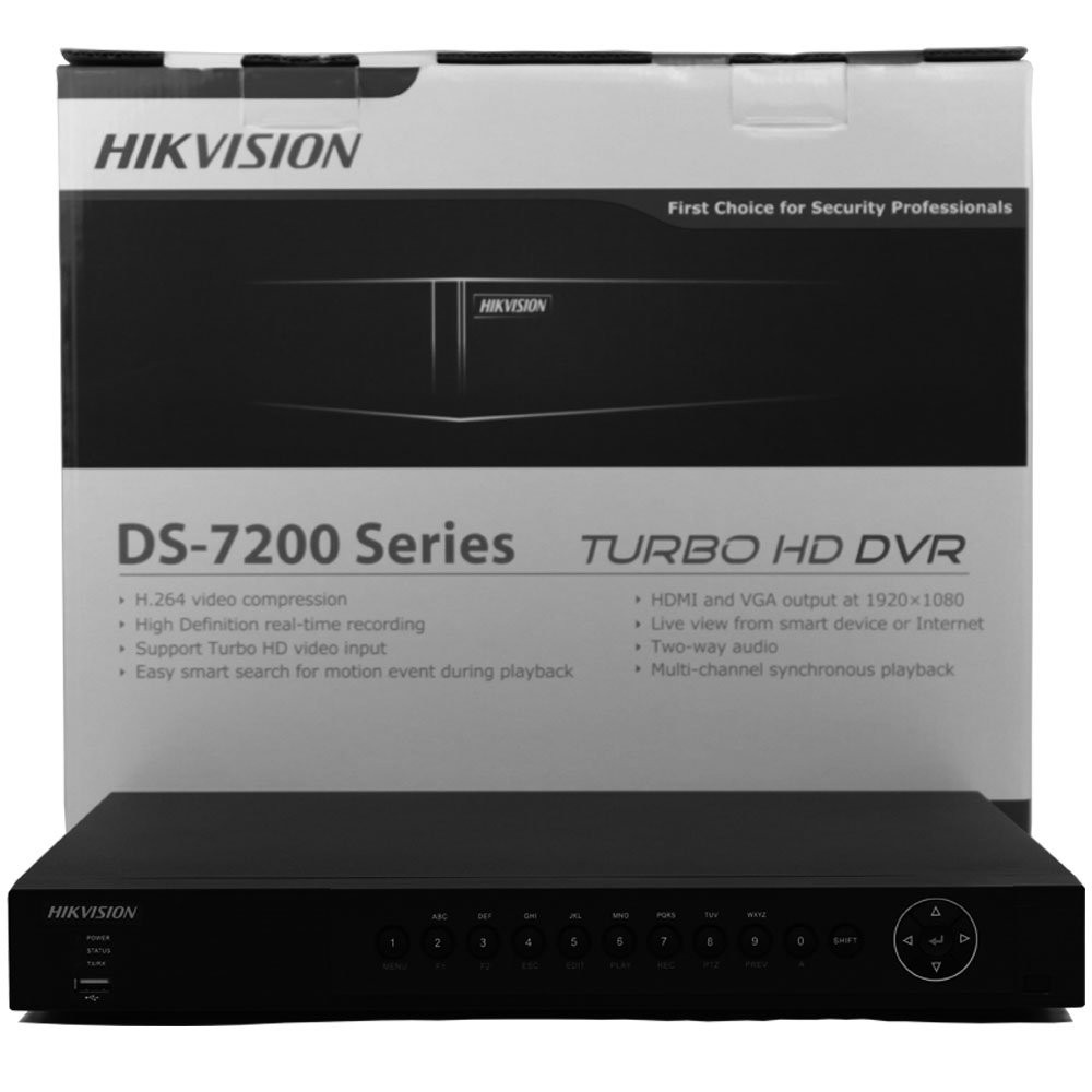 Hikvision Turbo HD ds-7216hqhi-sh 16 canali DVR registratore Video di Rete TVI Nero