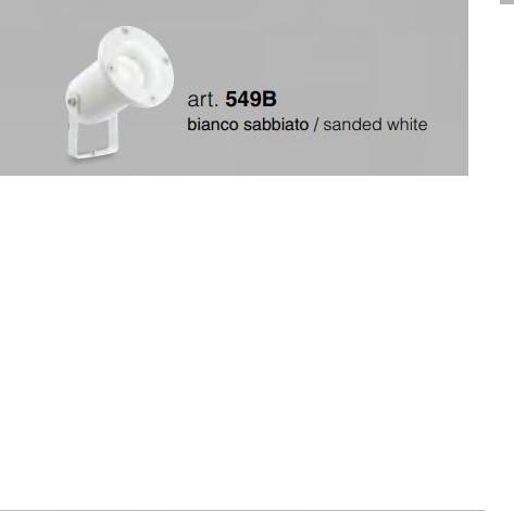 ISYLUCE Faretto per esterno in alluminio bianco sabbiato