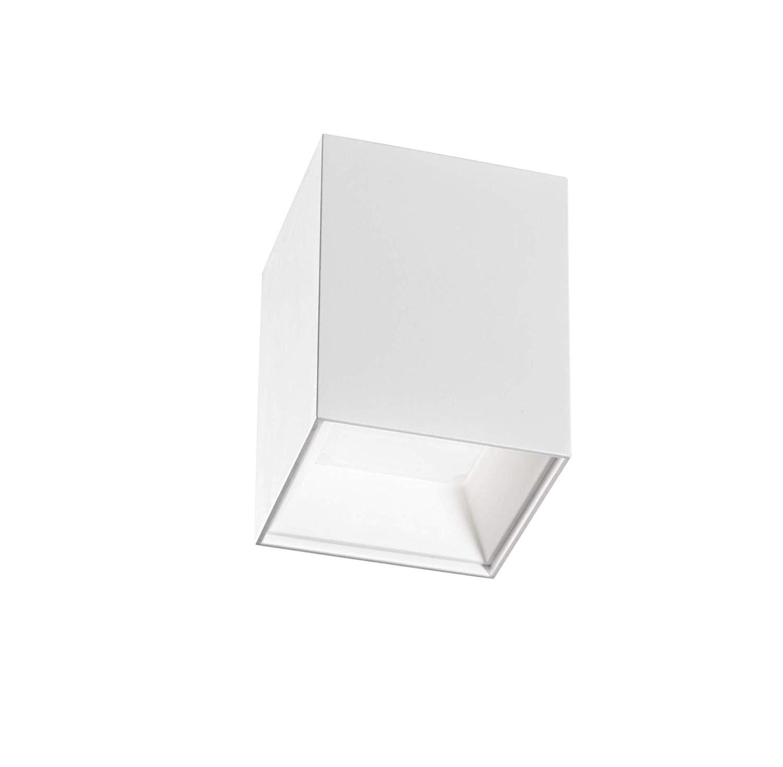 ISYLUCE  plafoniera spot plafone led 12w 4000k faretto esterno da soffitto tetto metallo bianco per interni
