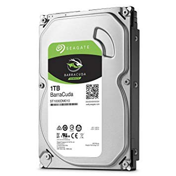 """Seagate Barracuda 1 TB internal hard drive 3.5 """", 64 MB SATA cache from 6 GB / s up to 210 MB / s silver"""
