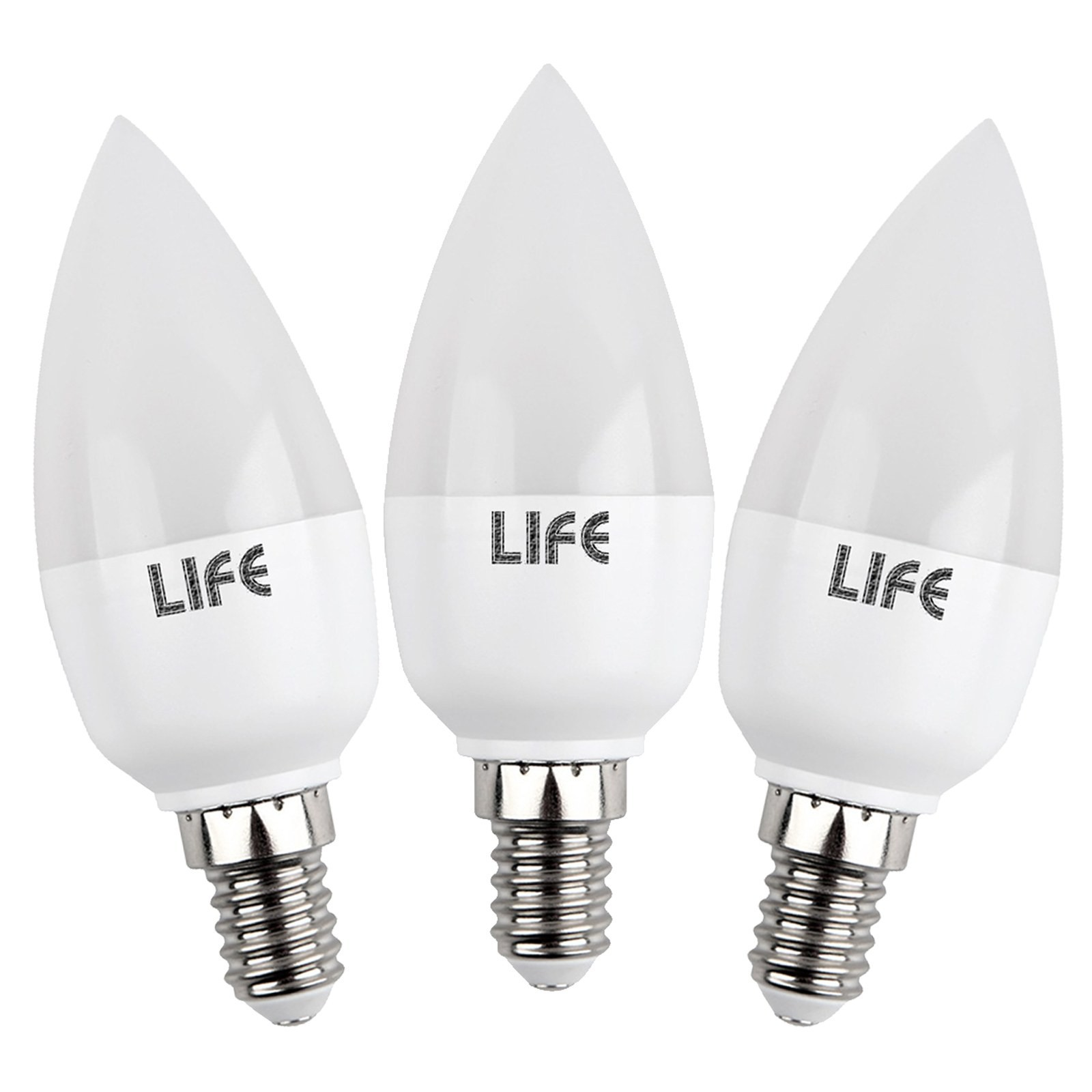 3 pezzi lampade lampadine a led luce calda attacco e14