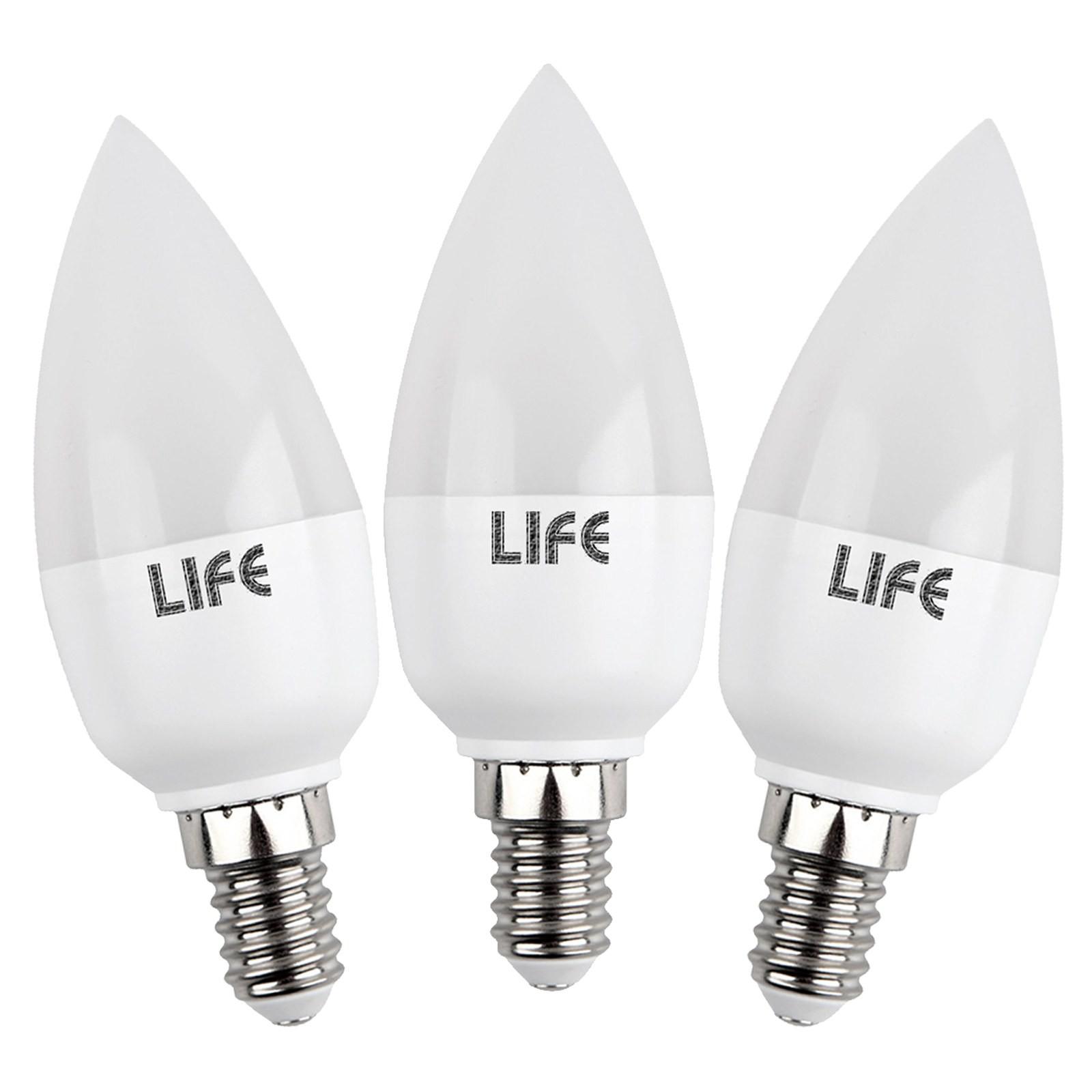 3 pezzi lampade lampadine a led luce fredda attacco e14