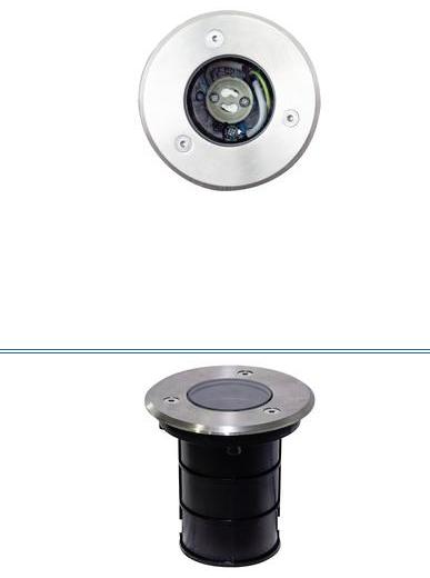 LIFE Portafaretto da pavimento con ghiera in Acciaio 316, IP67, per GU10 a LED di max