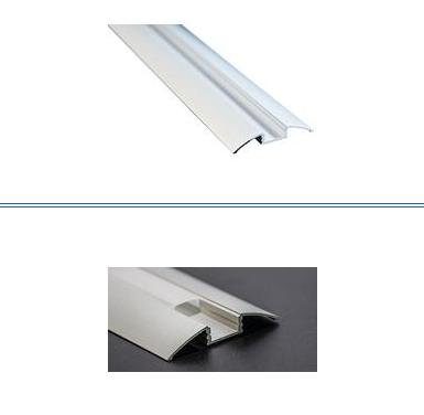 LIFE Profilo alluminio 2m Dissip.40W/m, Calpestabile,Incavo 12,2mm L52,3mm Cover
