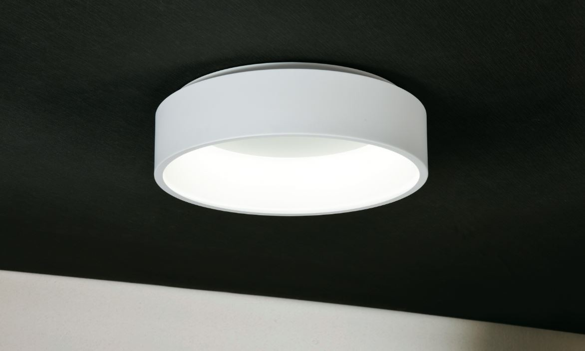 Plafoniera Led Soffitto Rotonda : Plafoniera applique aurora tonda da soffitto led w lm