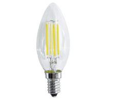 LAMPADA LED CANDELA C35 serie Filament Trasparente, E14, 4W,FA320