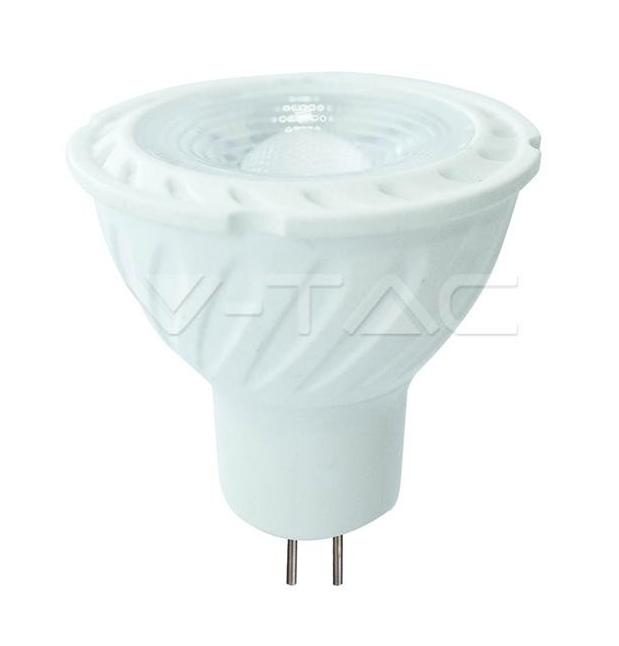 LED FARETTO SAMSUNG CHIP - GU5.3 6.5W MR16 RIPPLE PLASTIC LENS COVER 110  4000K