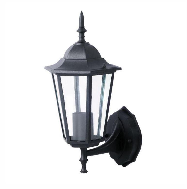 LAMPADA GIARDINO DA PARETE E27 NERO