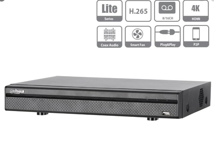 Videoregistratore XVR DVR NVR 16 CH Penta-brid 4K Compact 1U 16CH@8MP 5 In 1 HDCVI CVBS AHD TVI