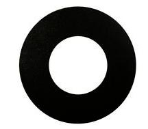 LIFE Frame rotondo per supporti serie 39.PS640*, colore Nero sabbiato, Diametro 83mm