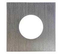 LIFE Frame quadrato per supporti serie 39.PS640*, colore Alluminio Spazzolato, Misure 84X84mm