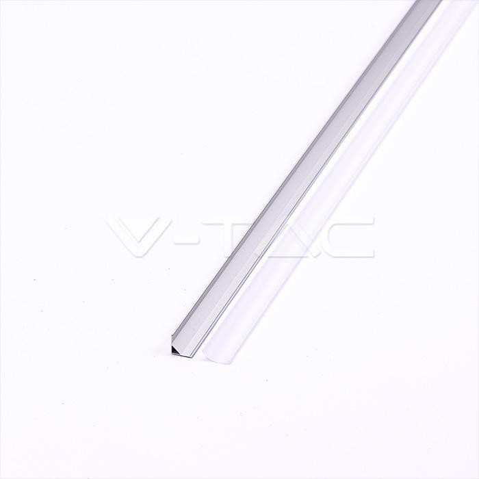 V-TAC Profilo in alluminio 2000 x 15.8 x 15.8mm milky