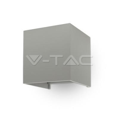 V-TAC 6w wall lamp with bridglux chip grey body square3000k  ip65
