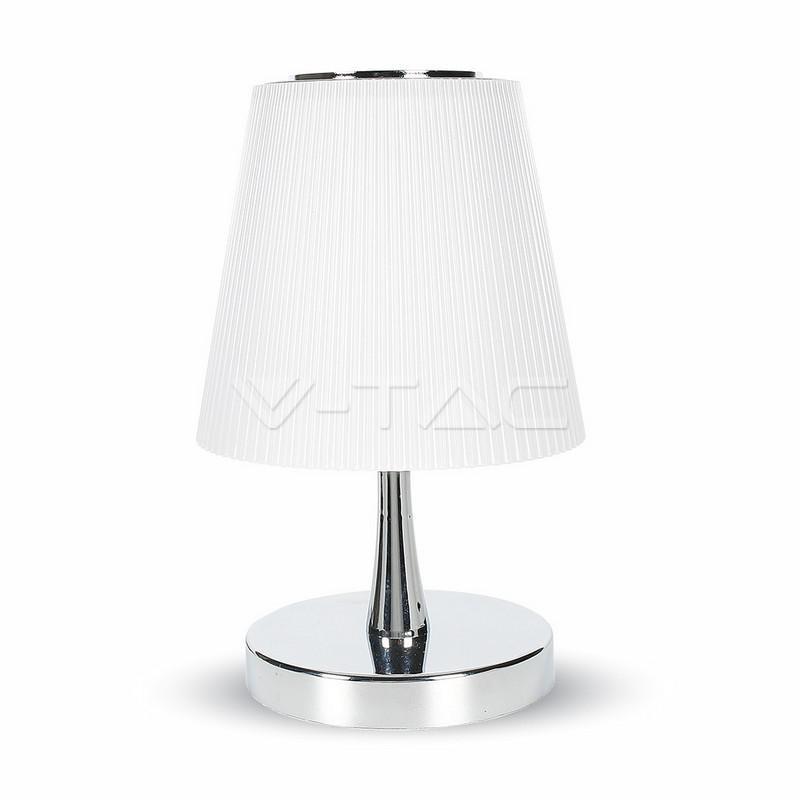 V-TAC 5w led lampada da tavolo bianco naturale corpo cromo, bianco