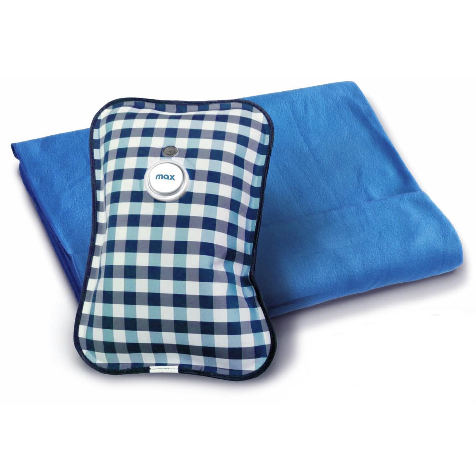 plaid coperta in pile con borsa acqua calda elettrica scalda mani