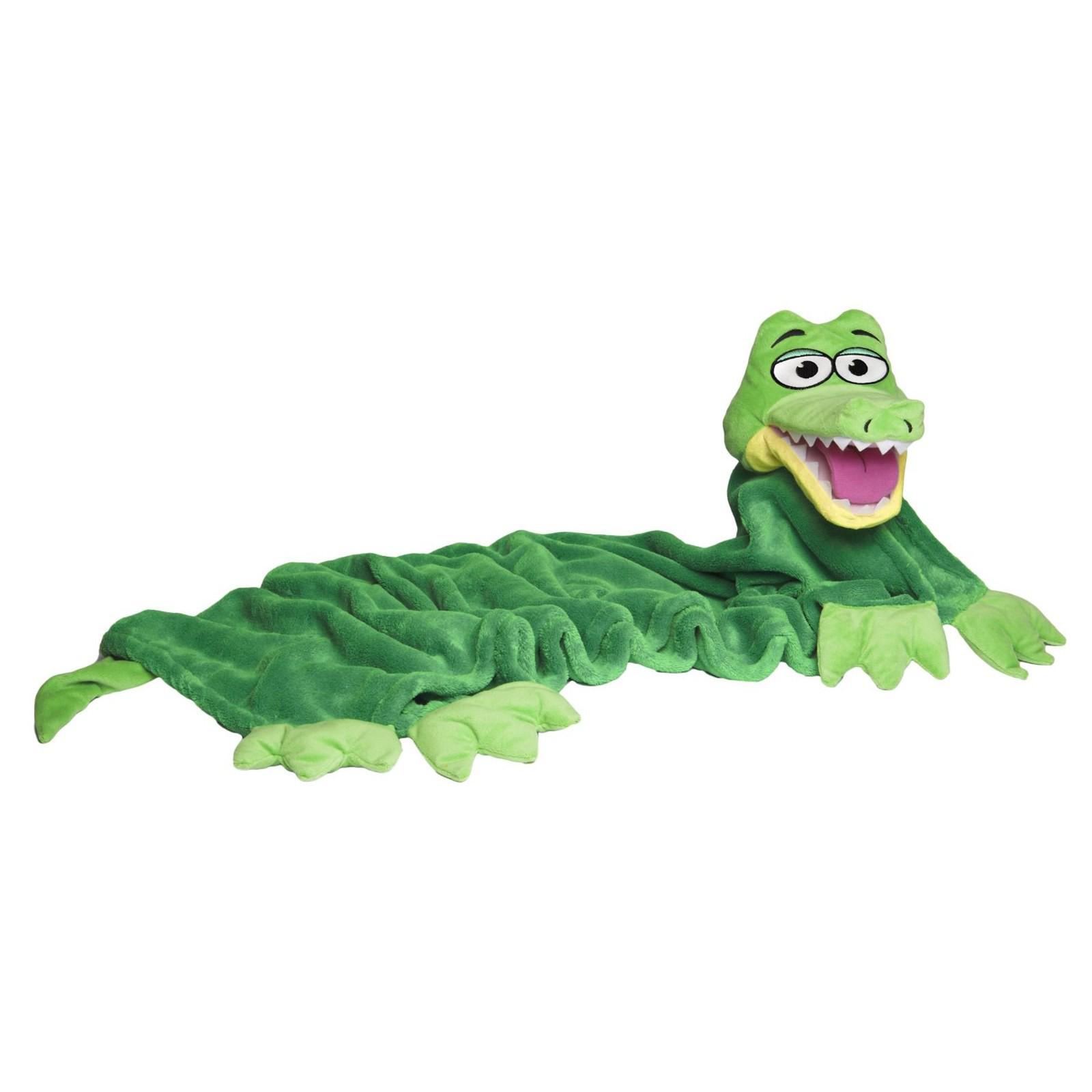 Coperta bambino con pupazzo pile bambini plaid morbido copri letto coccodrillo area illumina - Letto a forma di peluche ...