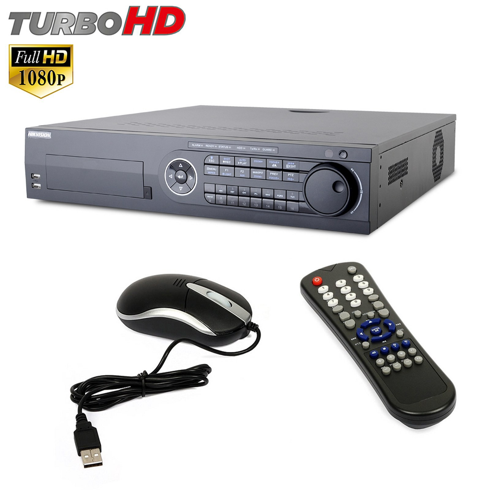 Dvr 8 Canali HIKVISION TURBO FULL HD 1080P Telecamera IP H264 DS-8108HQHI-SH