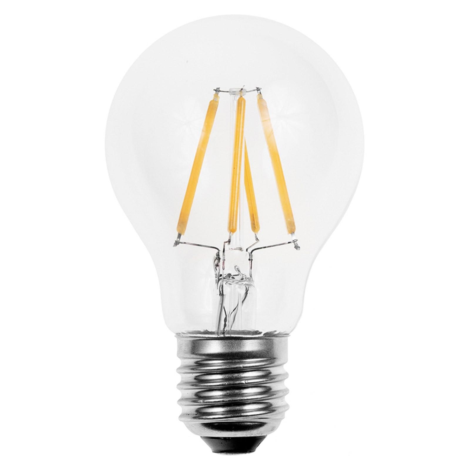 Lampada led lampadina filamento attacco e27 light a globo for Lampada led lunga