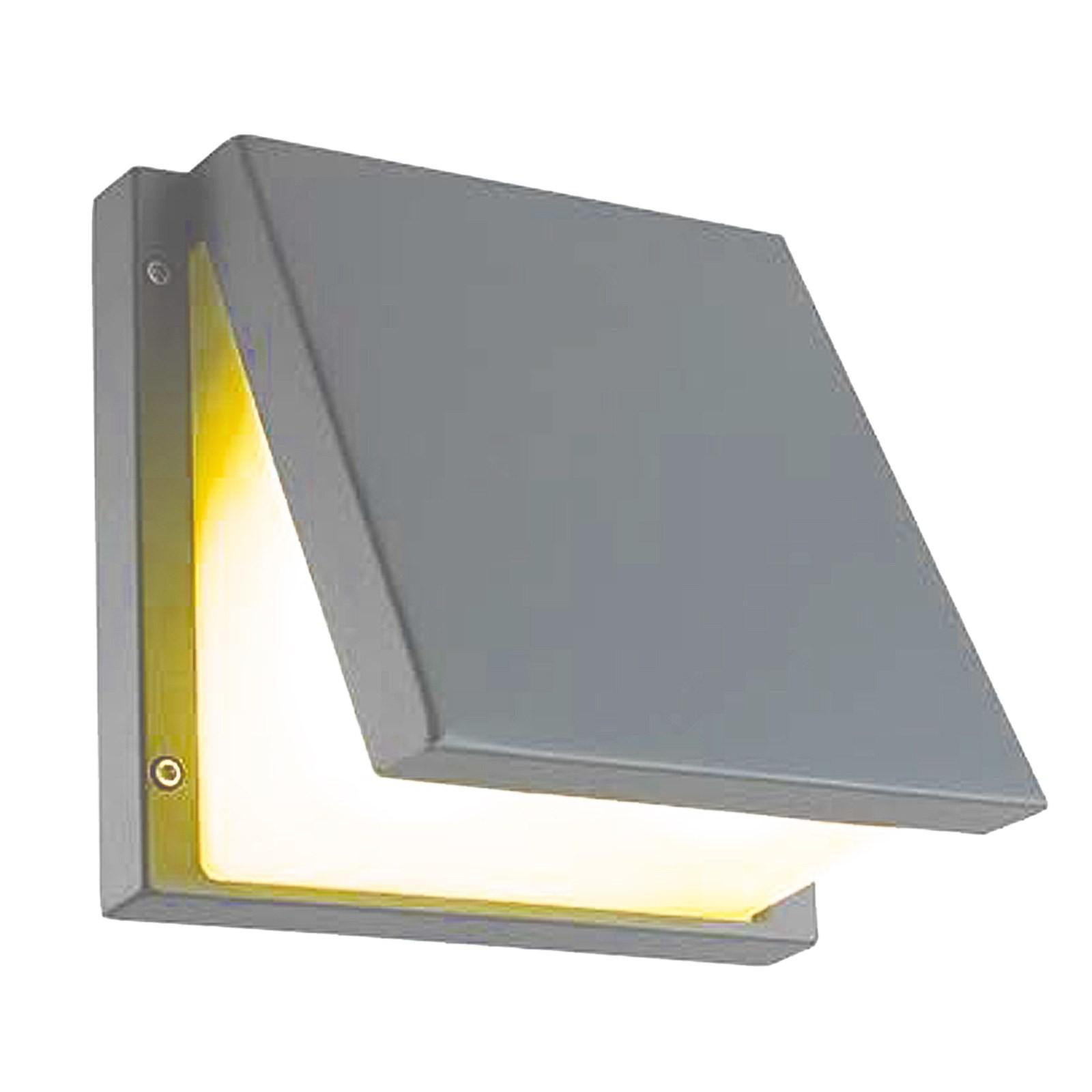 Lampada Esterno Plafoniera Applique Led E27 Parete Giardino Grigio LIGHT Desi...