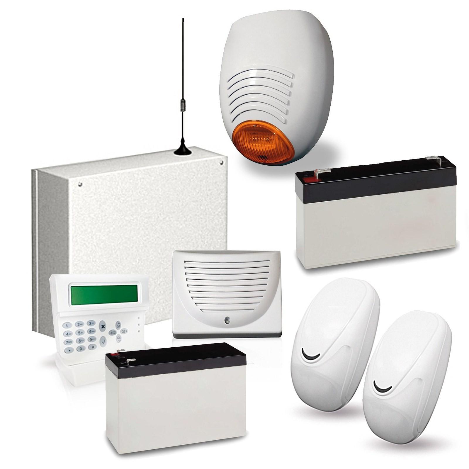 Kit Antifurto Allarme Casa Combinatore GSM Cellulare con Batterie AMC C24 GSM Vultech Life AMC ...