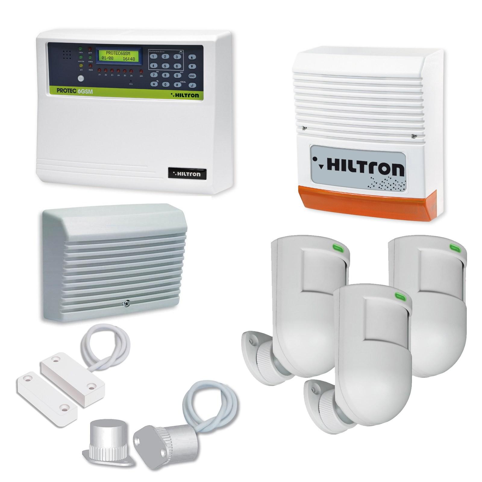 Kit allarme centrale antifurto casa combinatore gsm sirena - Allarmi per casa ...