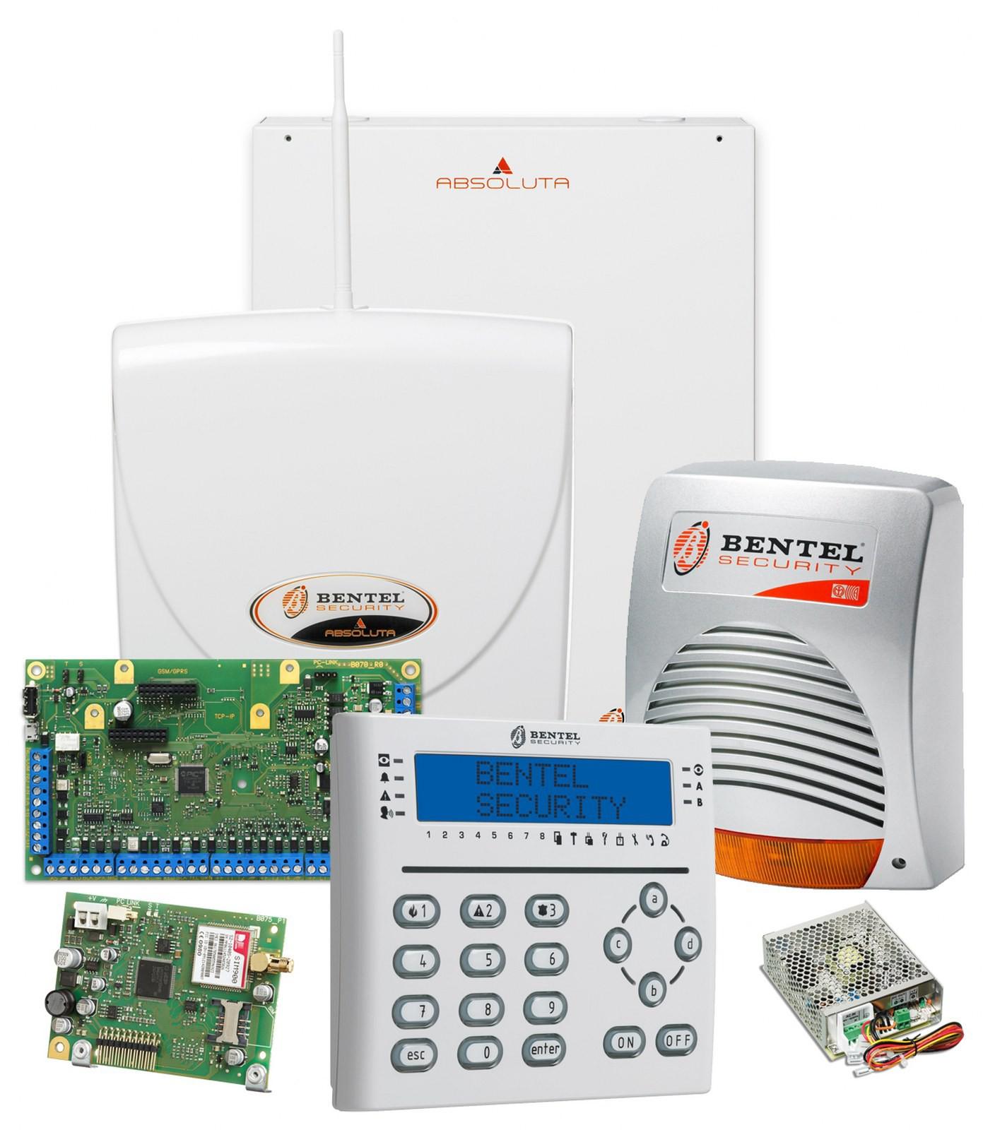 Kit antifurto filare 16 zone bentel centrale box antenna for Bentel absoluta 42 prezzo