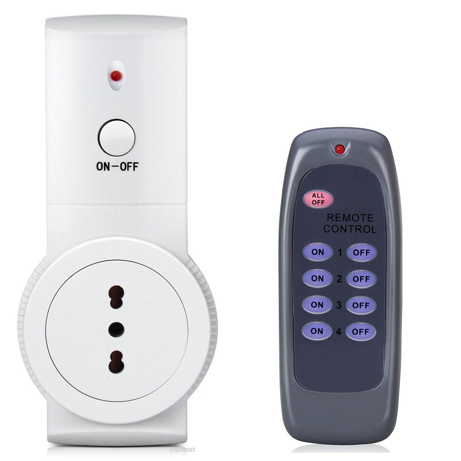 Kit Presa Elettrica Telecomandata con Telecomando WIRELESS Senza Fili LIFE