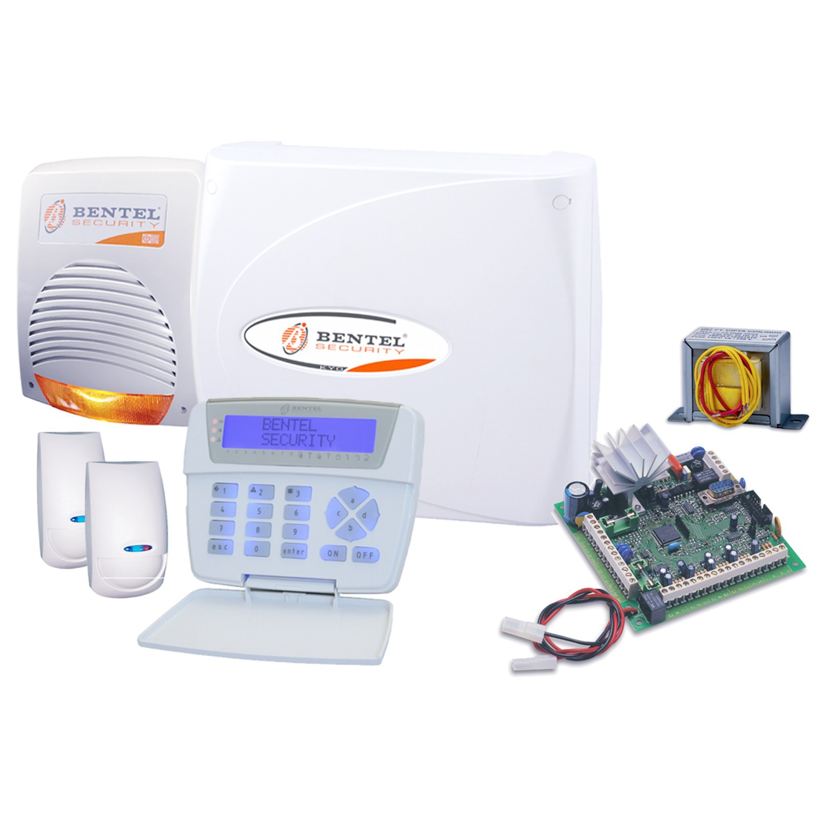 Kit Allarme Antifurto BENTEL Casa Centrale KYO8 Impianto Cablato Sirena Sensori - Area Illumina