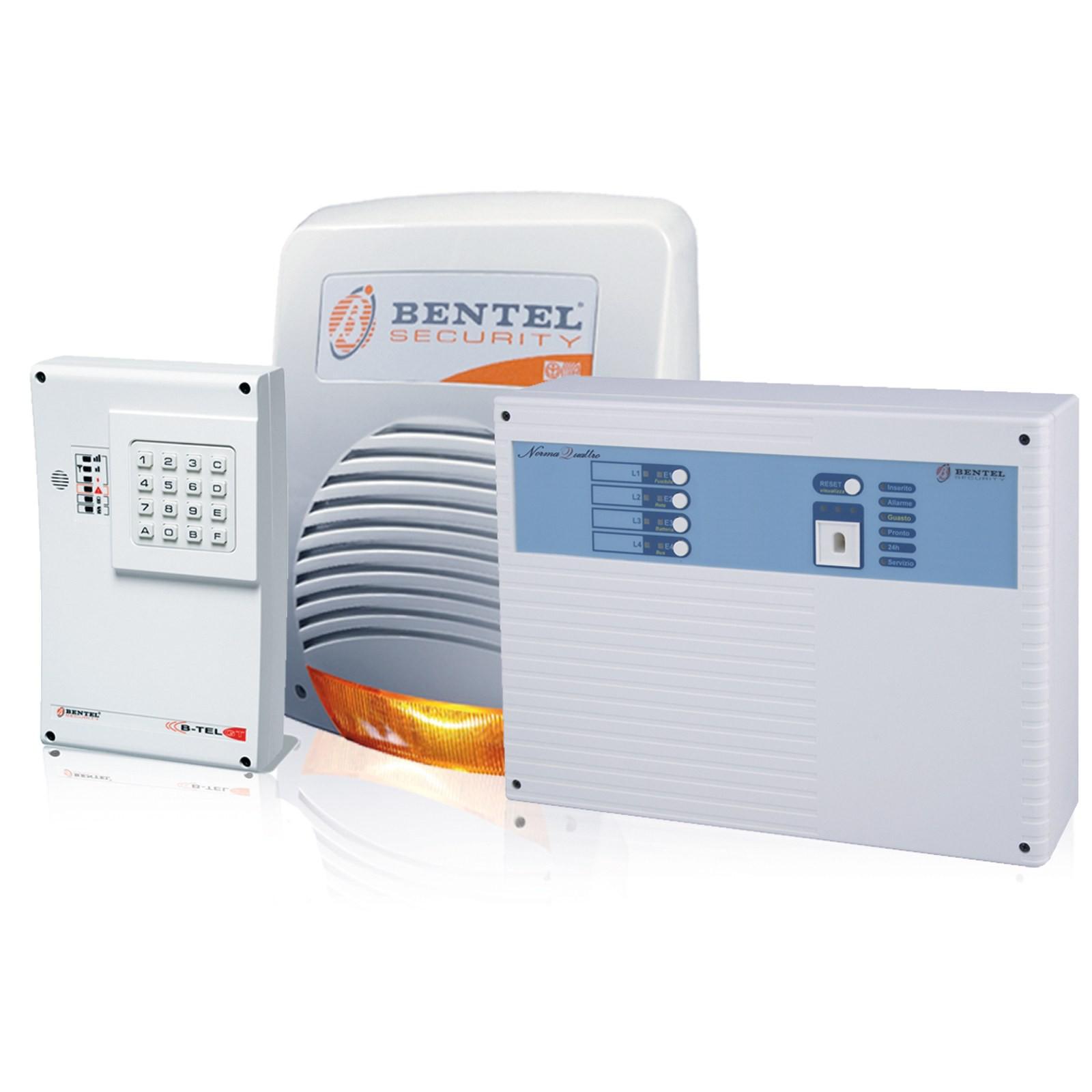 Kit allarme antifurto bentel centrale norma 4t 4 zone for Bentel norma 8