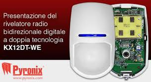 PYRONIX 12m, rivelatore volumetrico radio bidirezionale digitale a doppia tecnologia