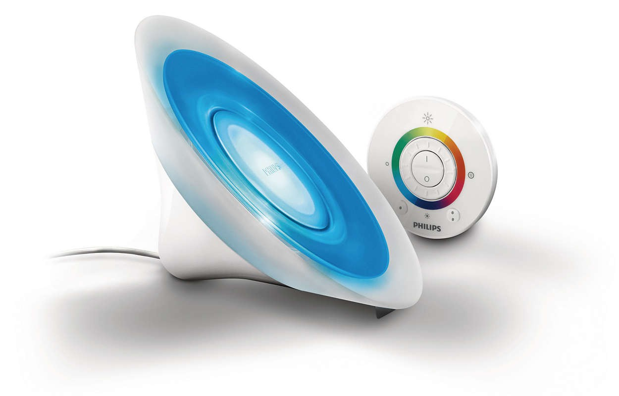 Philips LivingColors Lampada da tavolo Aura bianca bianco LED