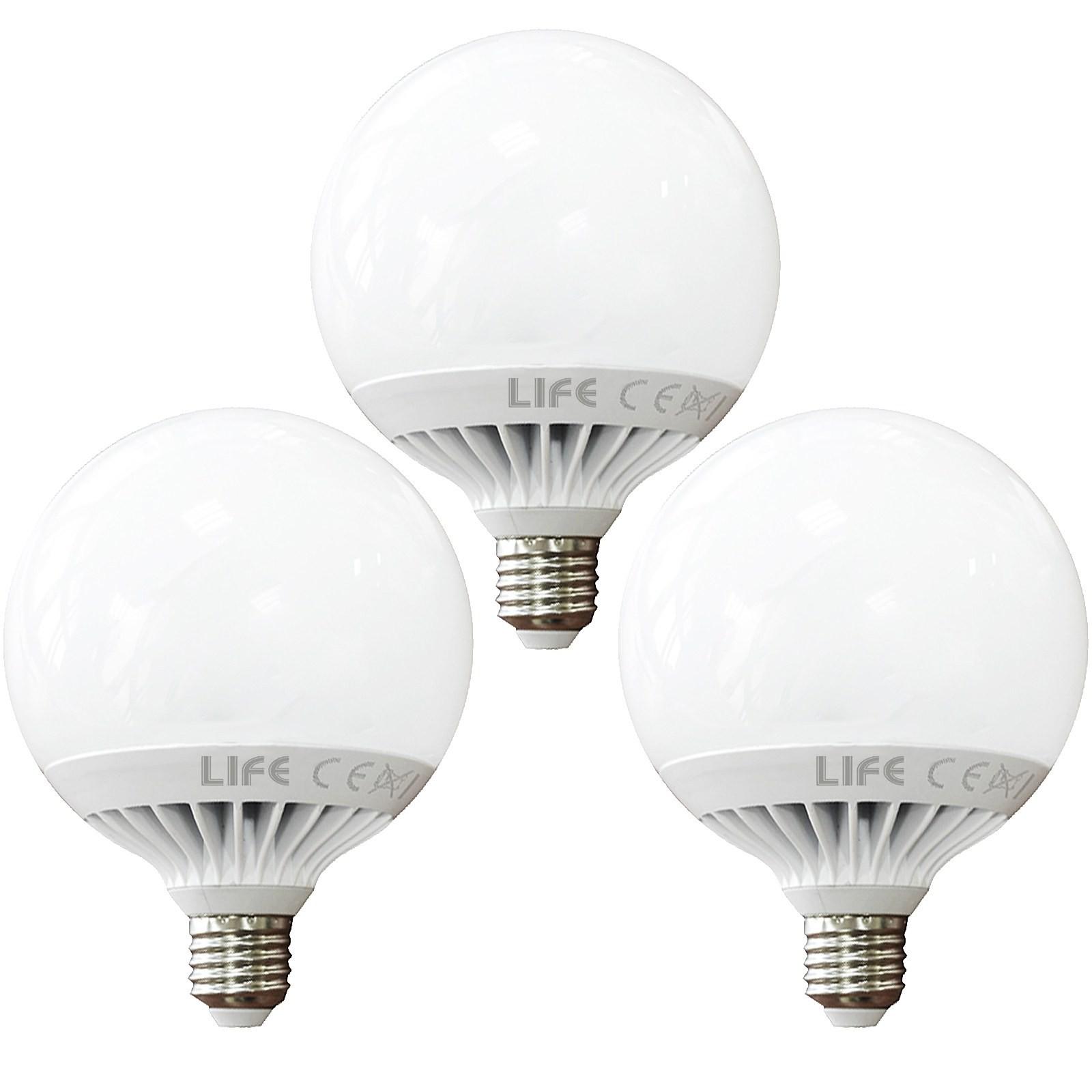 3 pz lampade lampada lampadina a led luce fredda a globo for Lampade e27 a led
