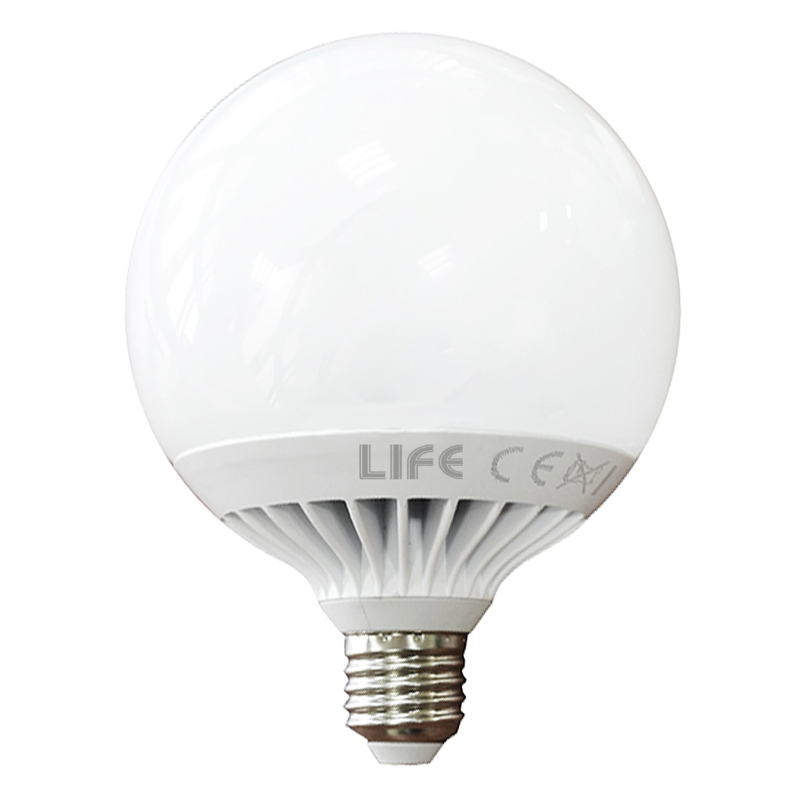 LAMPADA LAMPADINA A LED LUCE FREDDA A GLOBO ATTACCO E27 15 WATT 6500 KELVIN LIFE