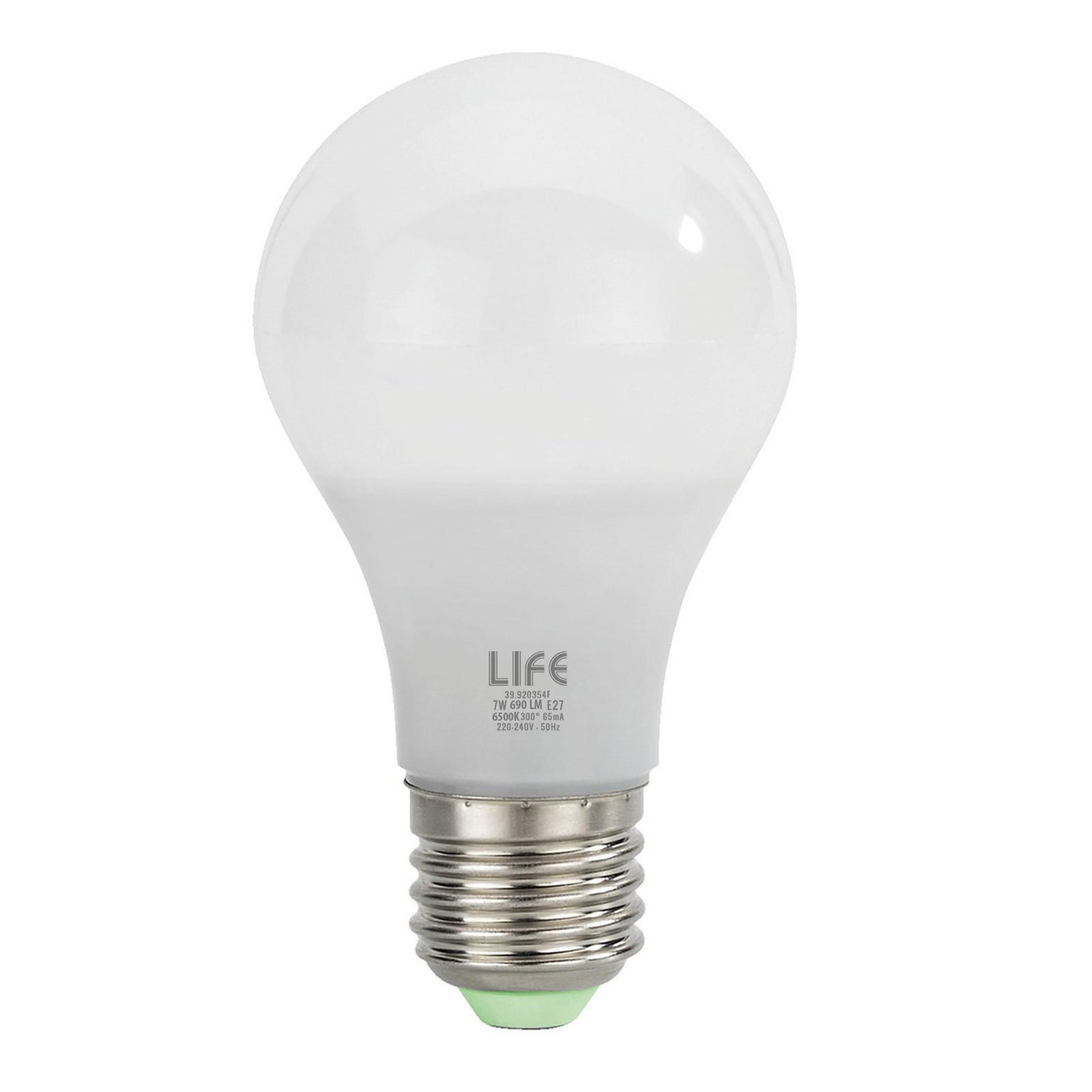 Lampada lampadina e27 led smd life goccia luce bianca for Luce bianca led