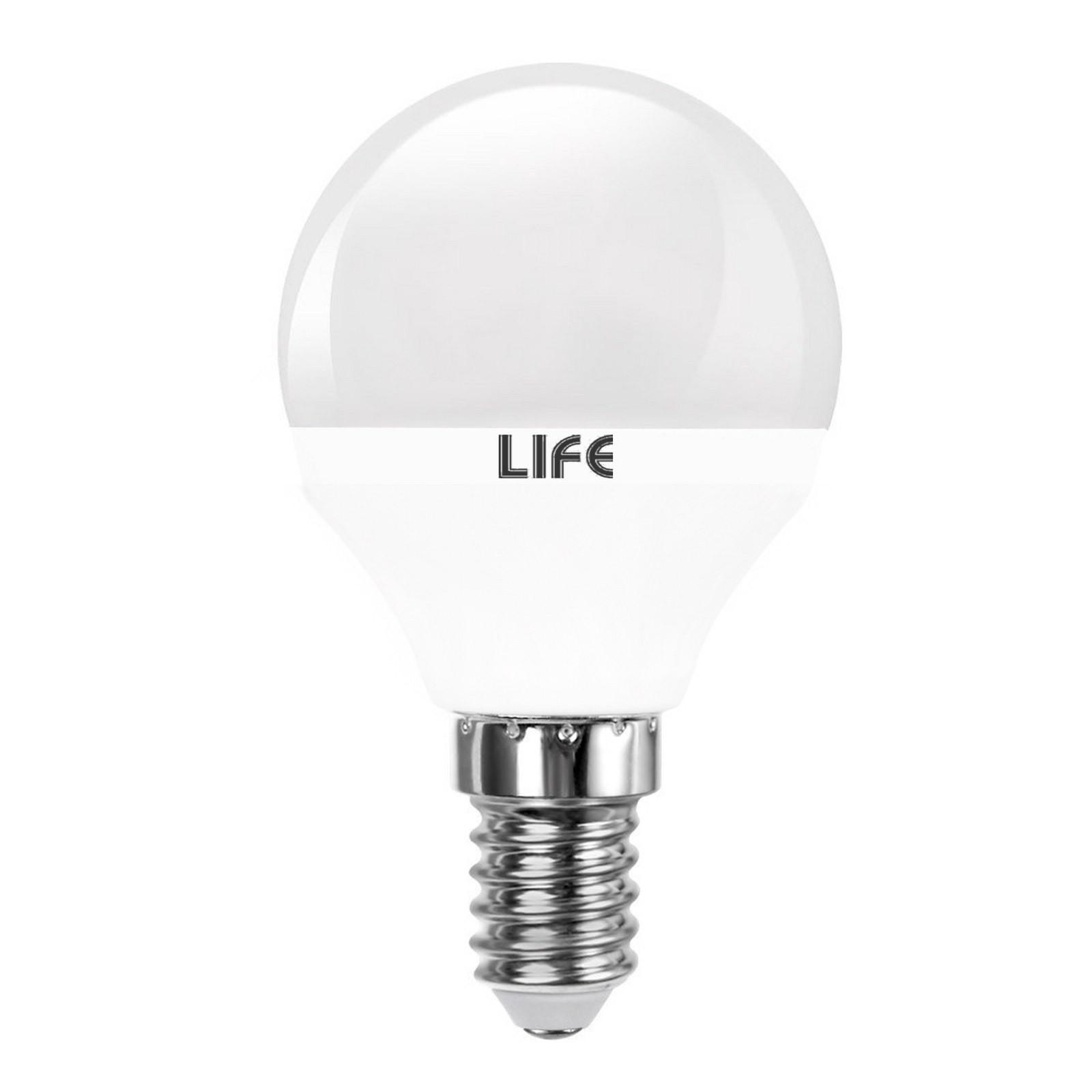 lampada lampadina led e14 5 5w mini sfera luce naturale