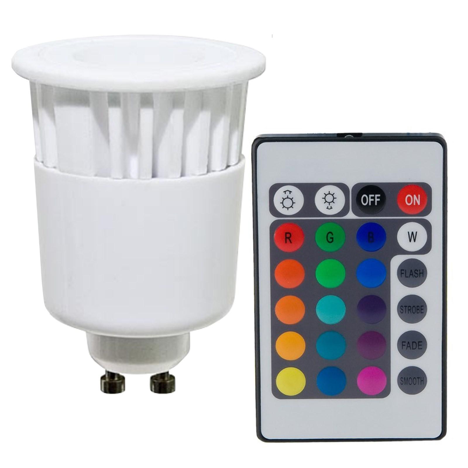 Home / Lampada Lampadina LED RGB GU10 Telecomando Faretto Colori 4W ...